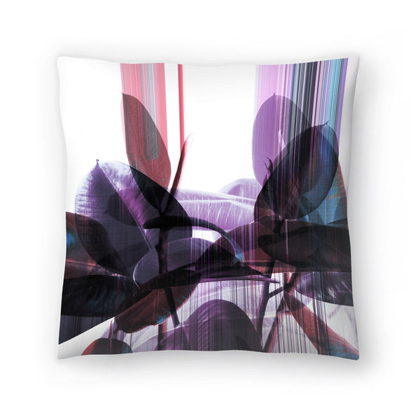Glitches On Greenery by Emanuela Carratoni Decorative Pillow
