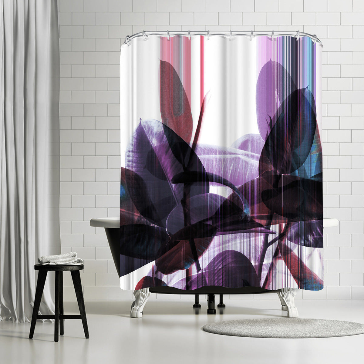 Glitches On Greenery by Emanuela Carratoni Shower Curtain - Shower Curtain - Americanflat