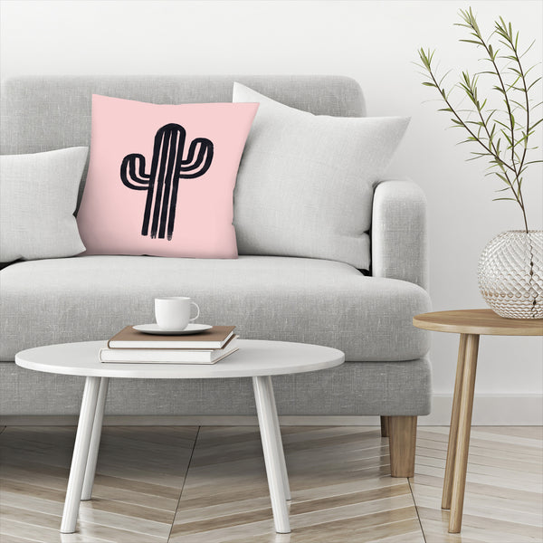 God Cactus by Emanuela Carratoni Decorative Pillow