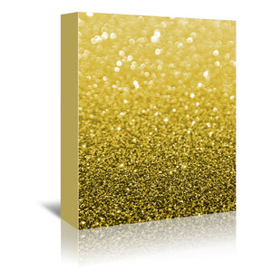 Gold Shiny Texture by Emanuela Carratoni Wrapped Canvas