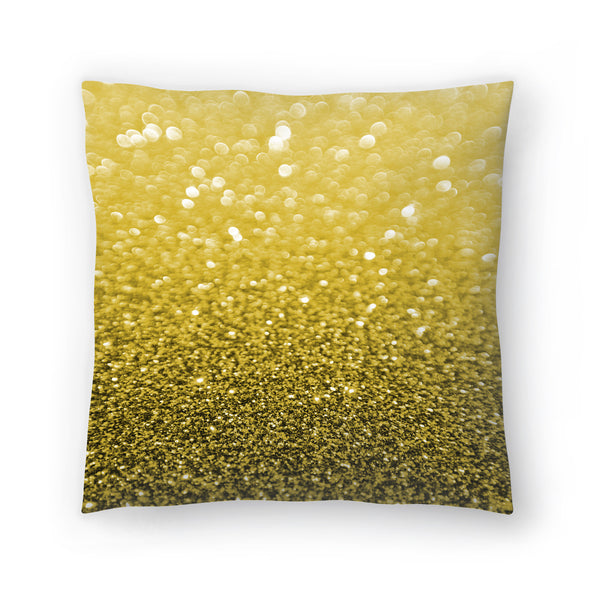 Gold Shiny Texture by Emanuela Carratoni Decorative Pillow