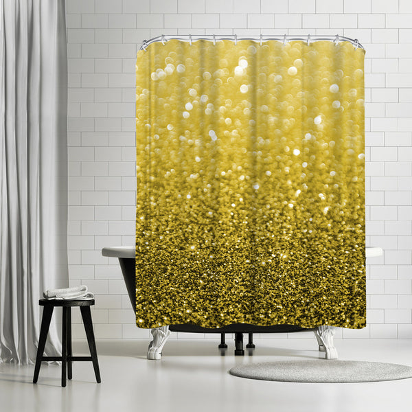 Gold Shiny Texture by Emanuela Carratoni Shower Curtain