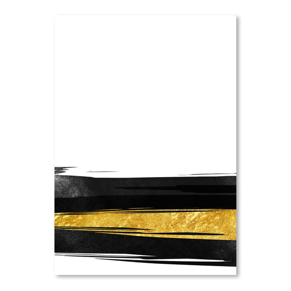 Golden Stripes by Emanuela Carratoni Art Print