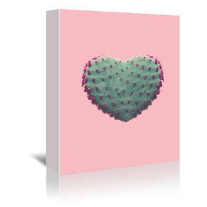 Heart Of Cactus by Emanuela Carratoni Wrapped Canvas
