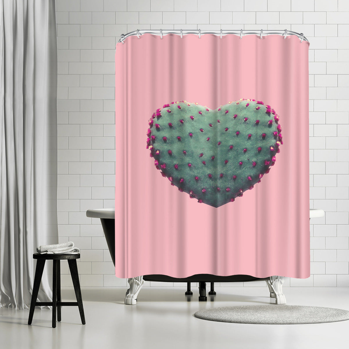 Heart Of Cactus by Emanuela Carratoni Shower Curtain -  - Americanflat