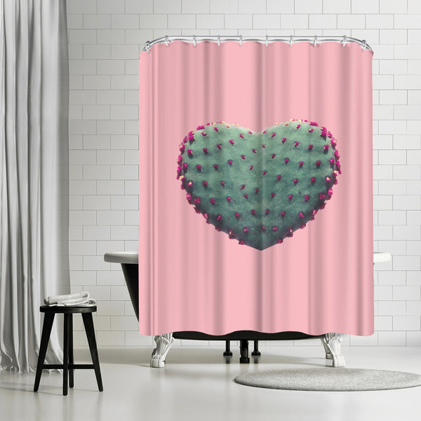 Heart Of Cactus by Emanuela Carratoni Shower Curtain