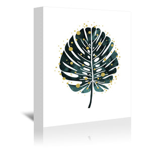 Holiday Monstera by Emanuela Carratoni Wrapped Canvas
