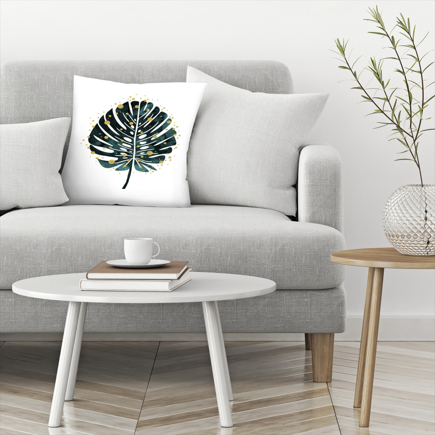 Holiday Monstera by Emanuela Carratoni Decorative Pillow - Decorative Pillow - Americanflat
