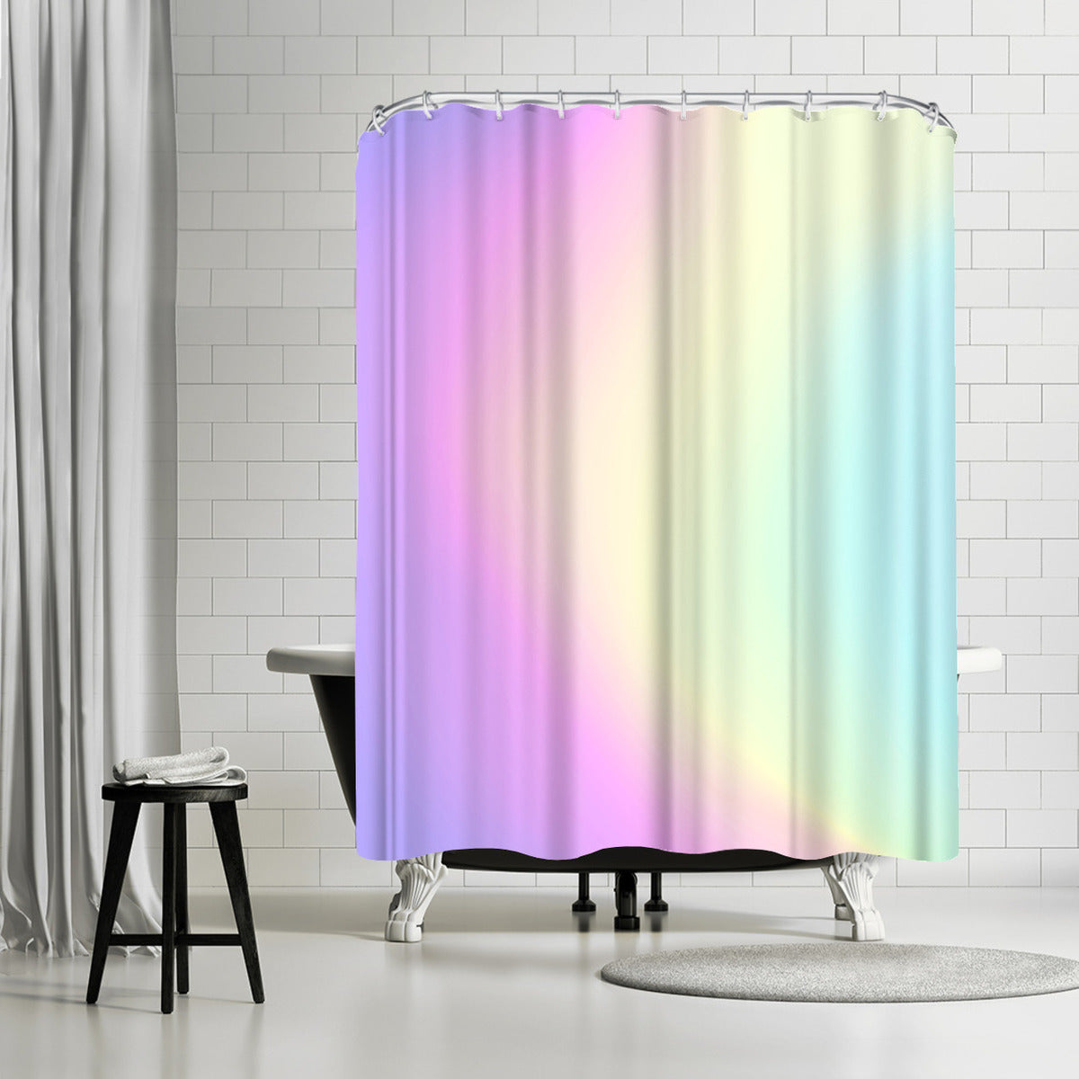 Holographic Texture by Emanuela Carratoni Shower Curtain - Shower Curtain - Americanflat