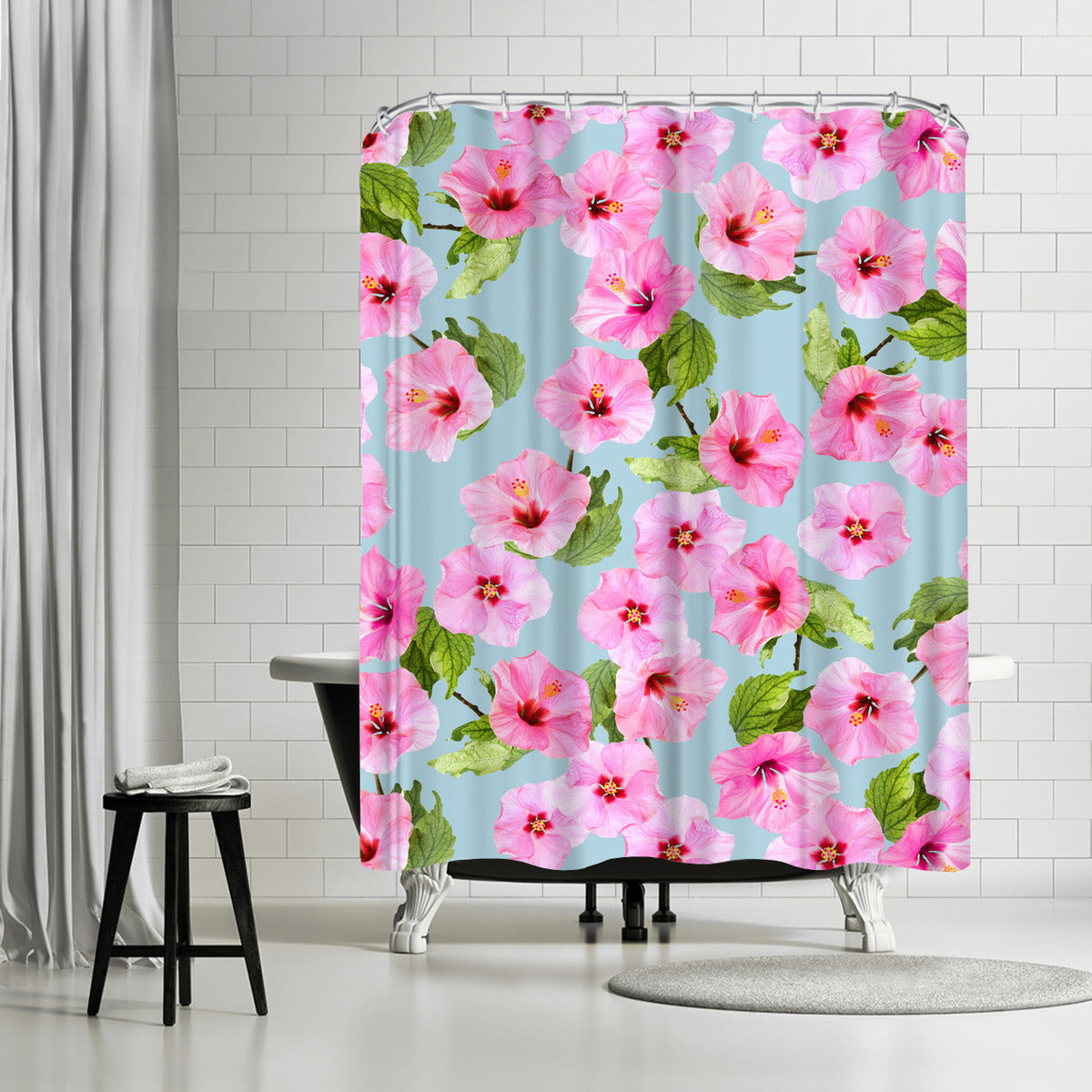 Ibiscus Dance by Emanuela Carratoni Shower Curtain -  - Americanflat