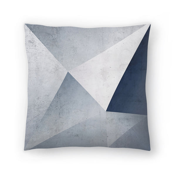 Iced Geometry by Emanuela Carratoni Decorative Pillow