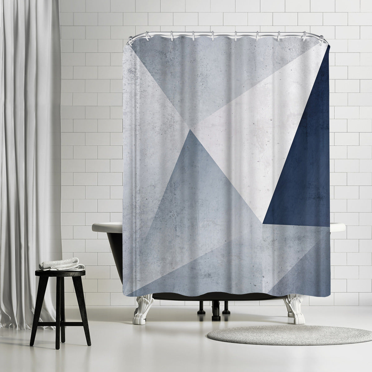 Iced Geometry by Emanuela Carratoni Shower Curtain -  - Americanflat