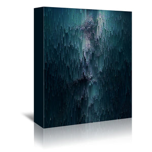 Iced Glitches by Emanuela Carratoni Wrapped Canvas