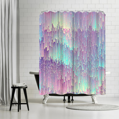 Iridescent Glitches by Emanuela Carratoni Shower Curtain -  - Americanflat