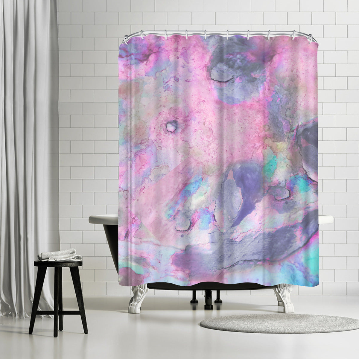 Iridescence by Emanuela Carratoni Shower Curtain -  - Americanflat