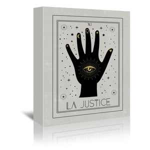 La Justice by Emanuela Carratoni Wrapped Canvas
