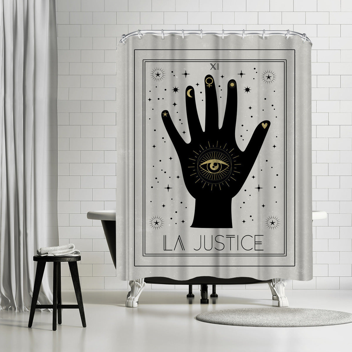 La Justice by Emanuela Carratoni Shower Curtain -  - Americanflat