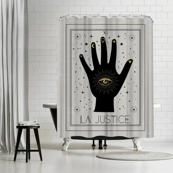 La Justice by Emanuela Carratoni Shower Curtain