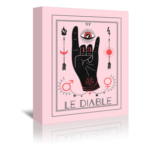 Le Diable by Emanuela Carratoni Wrapped Canvas