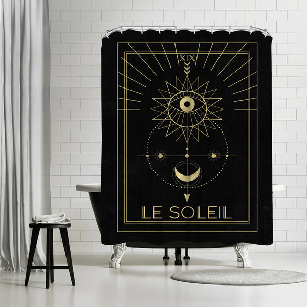 Le Soleil by Emanuela Carratoni Shower Curtain