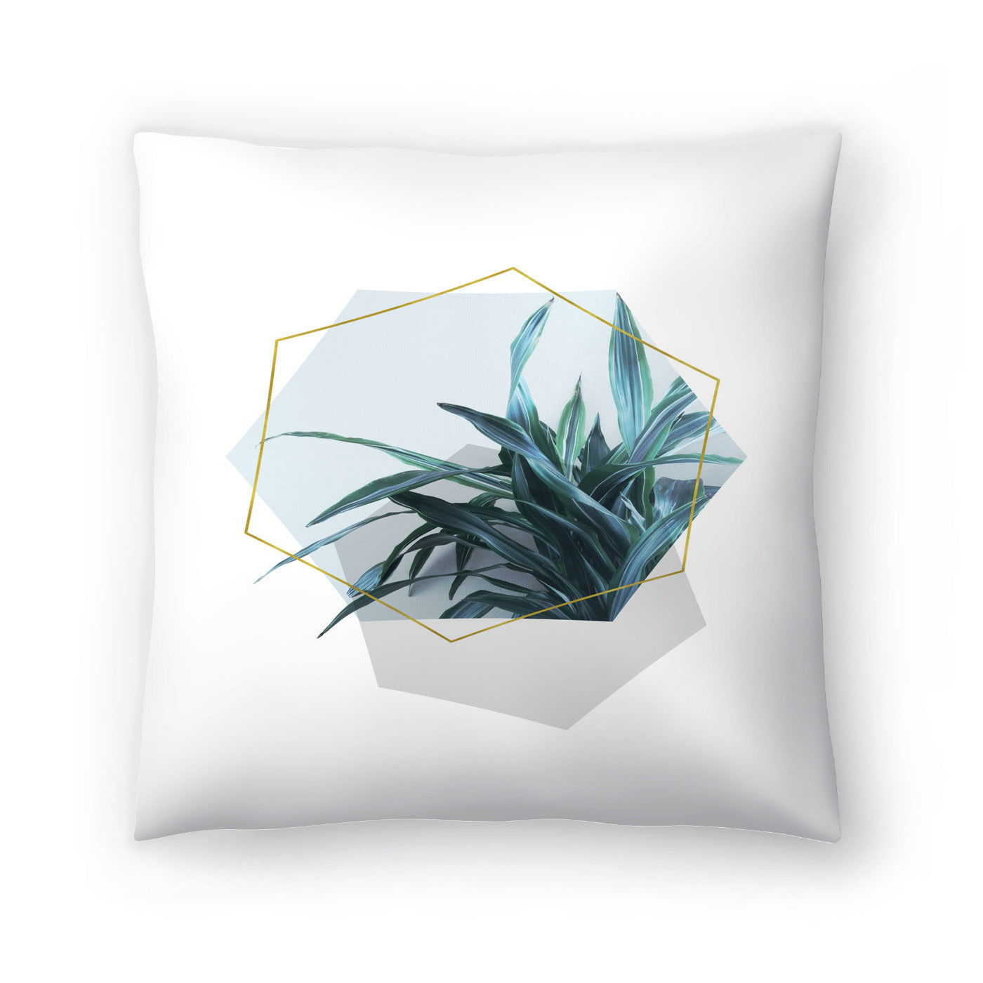 Leaves Geometry by Emanuela Carratoni Decorative Pillow - Decorative Pillow - Americanflat