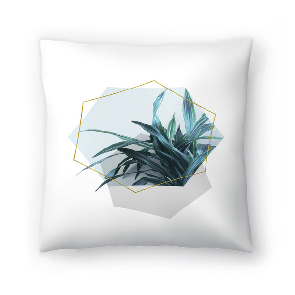 Leaves Geometry by Emanuela Carratoni Decorative Pillow