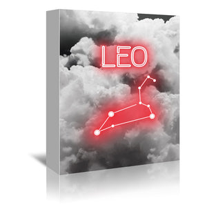 Leo Constellation by Emanuela Carratoni Wrapped Canvas