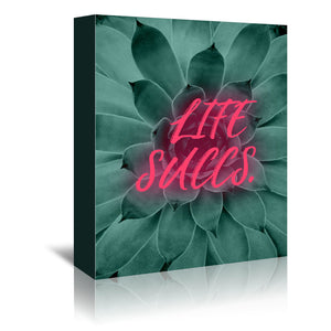 Life Succs by Emanuela Carratoni Wrapped Canvas
