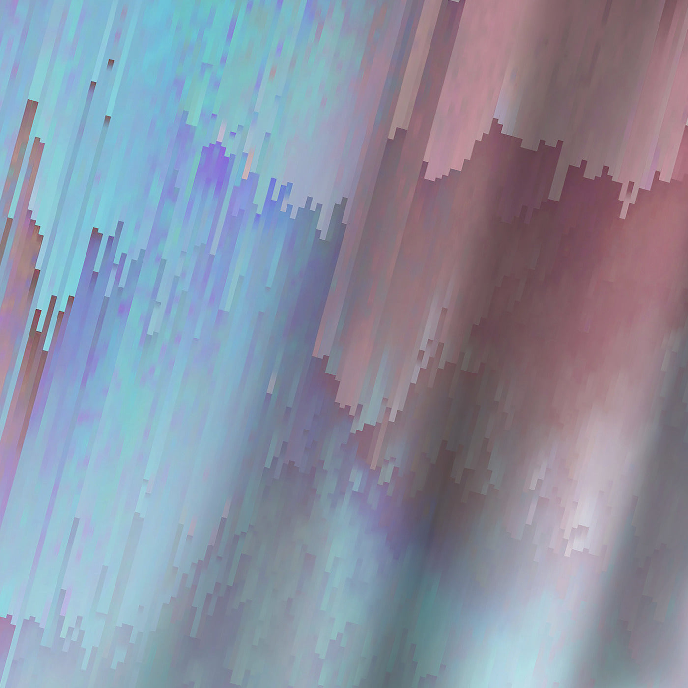 Light Blue And Pink Glitches by Emanuela Carratoni Shower Curtain -  - Americanflat