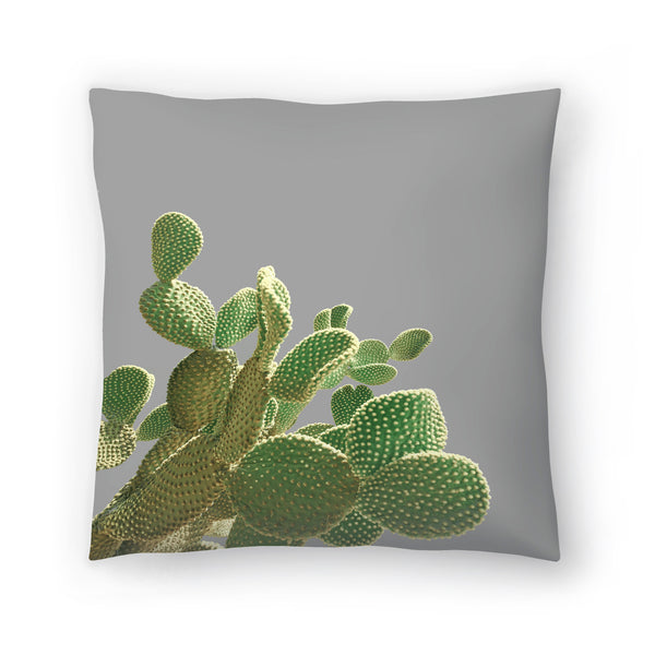 Minimal Cactus by Emanuela Carratoni Decorative Pillow