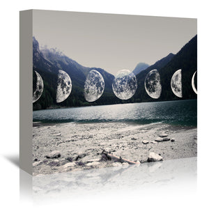 Moonlight Mountains by Emanuela Carratoni Wrapped Canvas