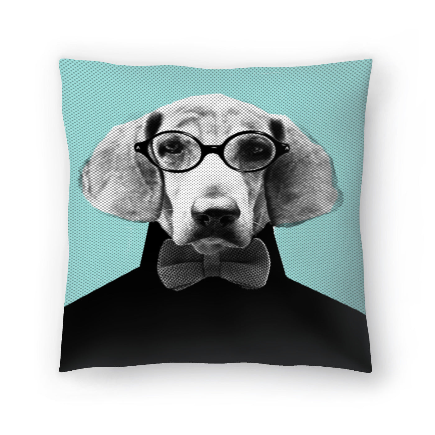 Mr Italian Bloodhound The Hipster by Emanuela Carratoni Decorative Pillow - Decorative Pillow - Americanflat