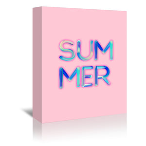 Neon Summer by Emanuela Carratoni Wrapped Canvas