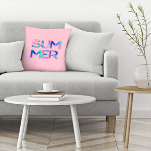 Neon Summer by Emanuela Carratoni Decorative Pillow