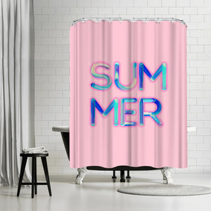 Neon Summer by Emanuela Carratoni Shower Curtain