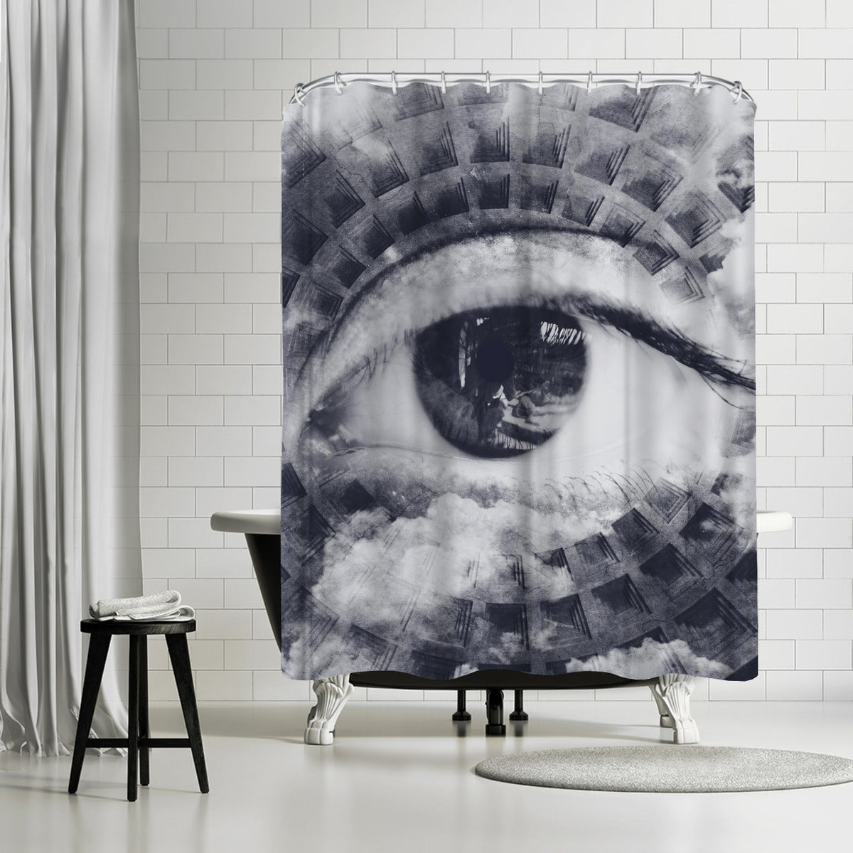 Oculus by Emanuela Carratoni Shower Curtain -  - Americanflat