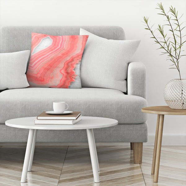 Painted Agate by Emanuela Carratoni Decorative Pillow