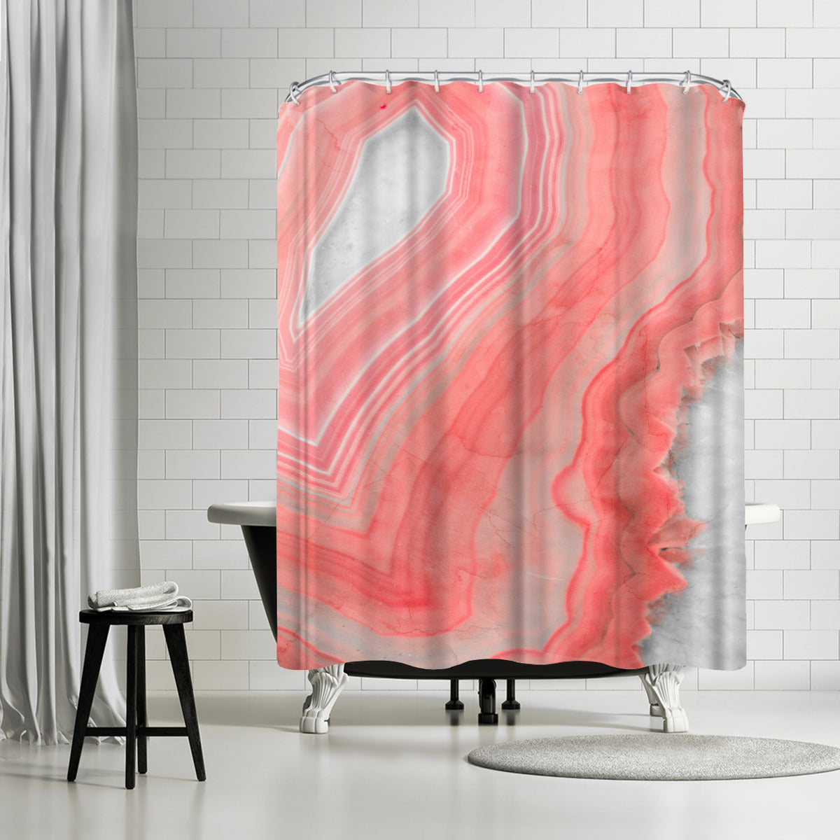 Painted Agate by Emanuela Carratoni Shower Curtain - Shower Curtain - Americanflat