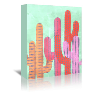 Painted Cactus Ii by Emanuela Carratoni Wrapped Canvas