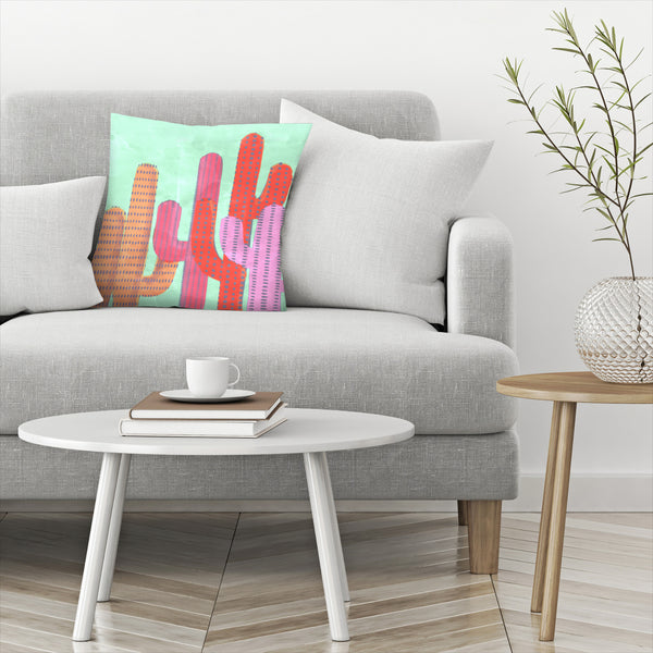 Painted Cactus Ii by Emanuela Carratoni Decorative Pillow
