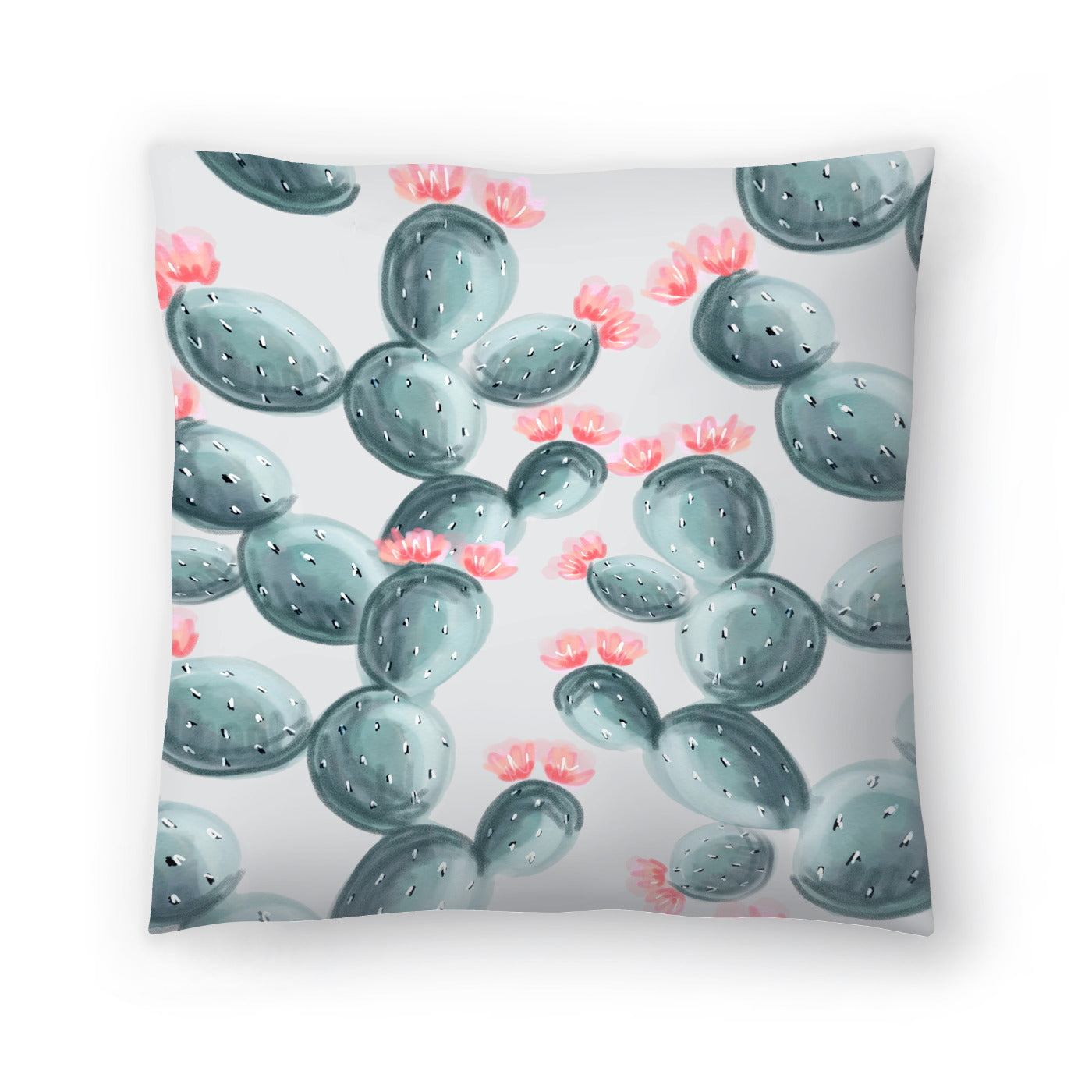Painted Cactus by Emanuela Carratoni Decorative Pillow - Decorative Pillow - Americanflat