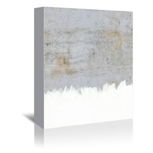 Painting On Raw Concrete by Emanuela Carratoni Wrapped Canvas