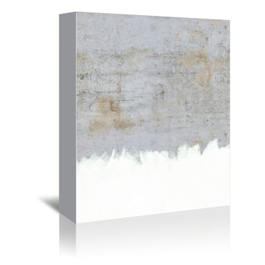 Painting On Raw Concrete by Emanuela Carratoni Wrapped Canvas - Wrapped Canvas - Americanflat