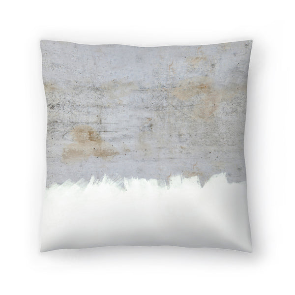 Painting On Raw Concrete by Emanuela Carratoni Decorative Pillow