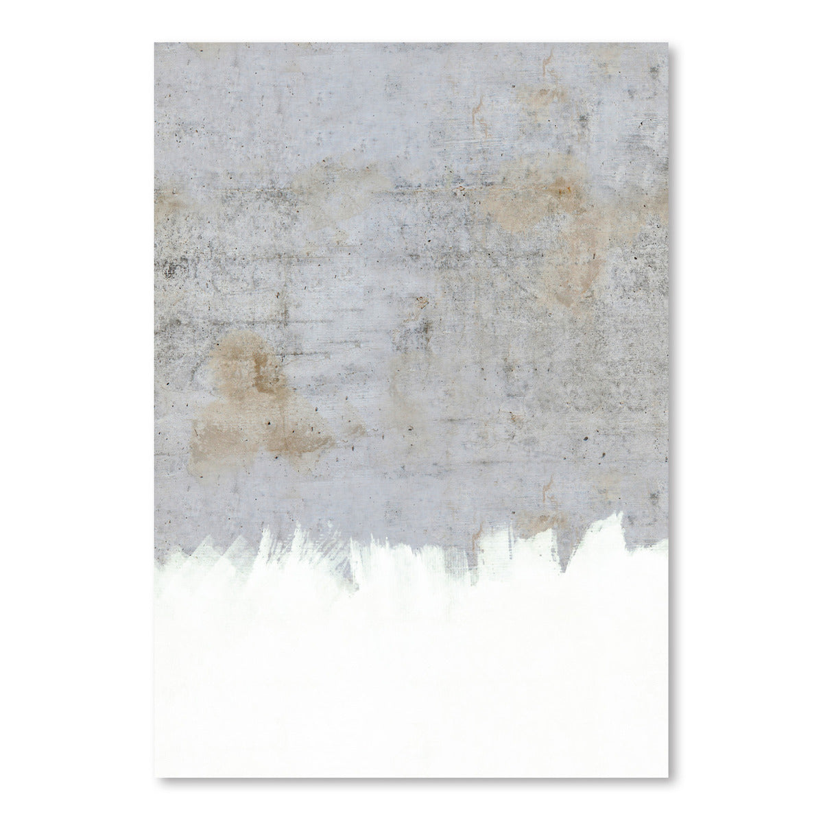 Painting On Raw Concrete by Emanuela Carratoni Art Print - Art Print - Americanflat