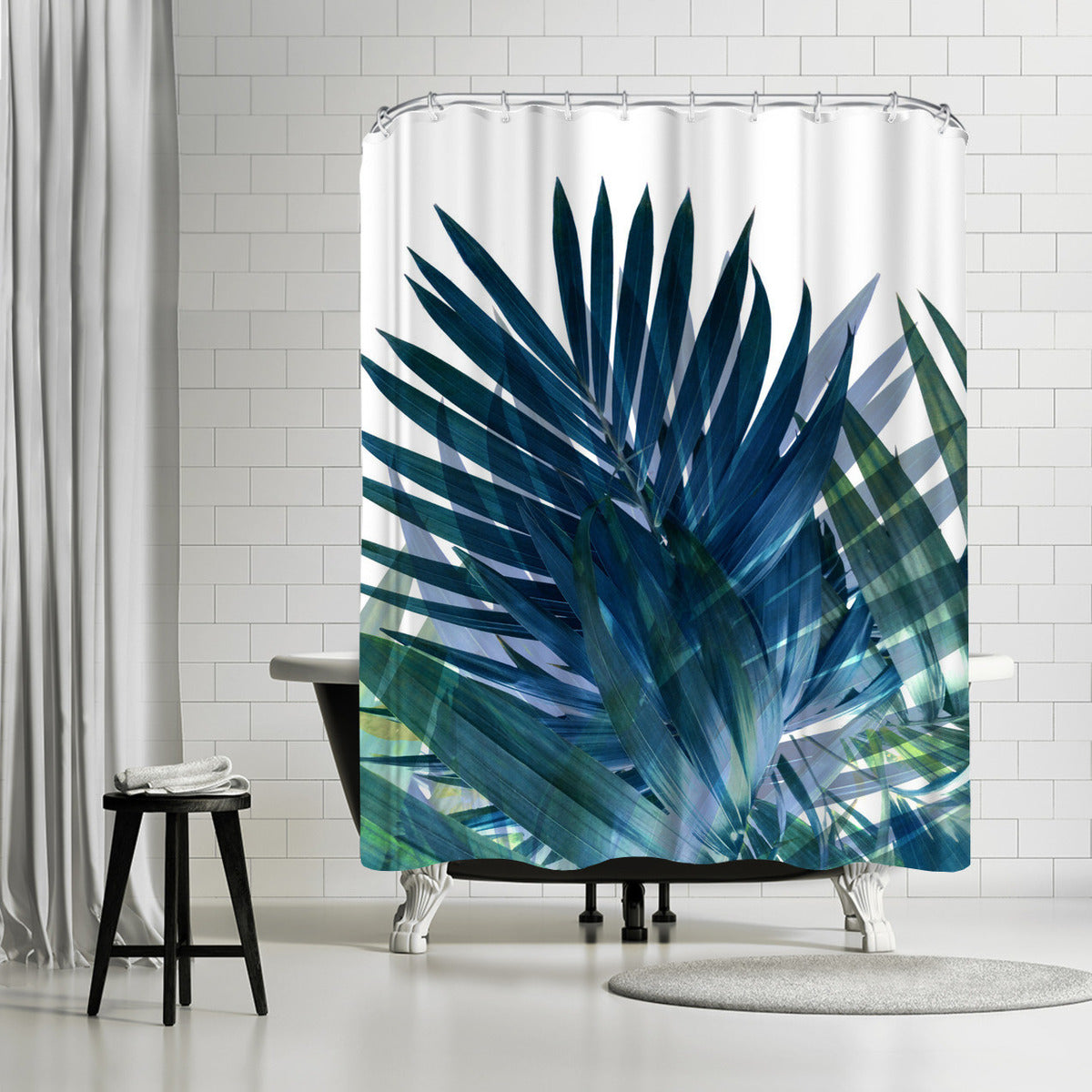 Palms Leaves by Emanuela Carratoni Shower Curtain
