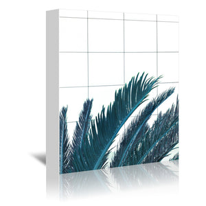 Palms On Geometry by Emanuela Carratoni Wrapped Canvas
