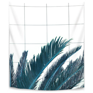 Palms On Geometry by Emanuela Carratoni Tapestry