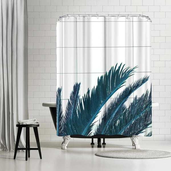 Palms On Geometry by Emanuela Carratoni Shower Curtain