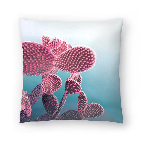 Pastel Cactus by Emanuela Carratoni Decorative Pillow